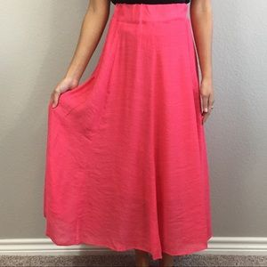 Sacred Threads Pink Coral Maxi Skirt